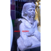 Escultura Estatua Esfinge Egipcio Leon De Cemento
