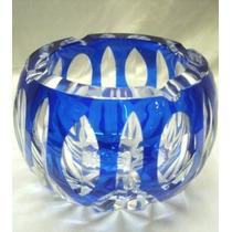 Excelente Cenicero Vintage Cristal Azul(963)