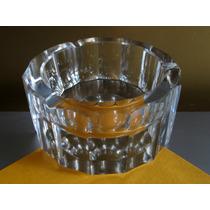 Cenicero Cristal Bohemia, Art Deco, Facetado, Impecable.