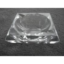 Cristal Adorno Cenicero Grande 12,5x12,5x5 Cm