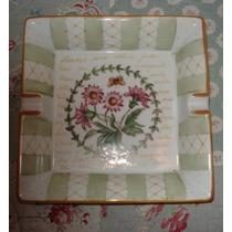 Porcelana Pintado A Mano Flores Cenicero Medida 20x20