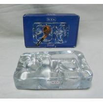 Antiguo Cenicero Para Pipa De Cristal Boda Tulip18x11x4 Cm