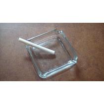 Cenicero De Vidrio 9 X 9 Cm Transparente