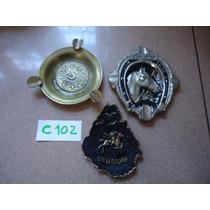 2 Ceniceros Uruguay Y 1 Con Monedas De Mexico C102