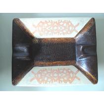 Cenicero Y Cuenco De Ceramica Pintado A Mano