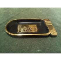 Cenicero De Mesa Egipcio. Importado De Metal Dorado