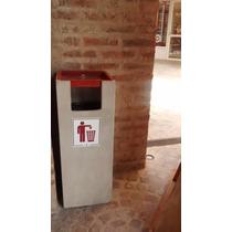 Cesto Residuos + Cenicero Exterior Patios Terrazas Oficinas