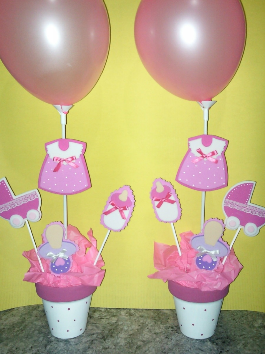 Centros de mesas de baby shower imagui for Centro de mesa baby shower