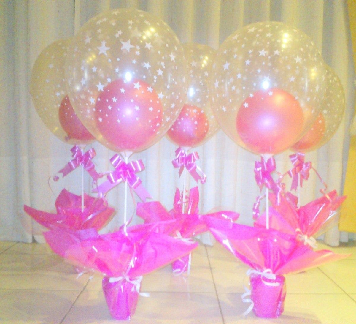 Centros de mesa con globos infantiles imagui for Mesas para cumpleanos infantiles