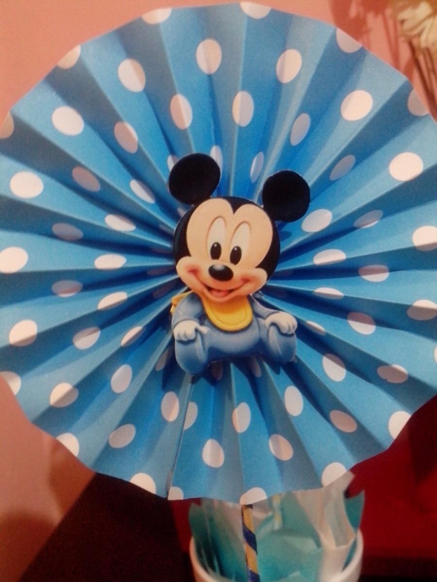 Centro de mesa de Mickey Mouse | Manualidades para Cumpleaños