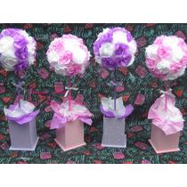 Centro De Mesa Con Flores De Papel,topiarios,souvenirs