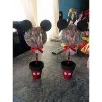 Centro De Mesa Mickey Con Gomitas
