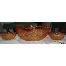 Carnival Glass, Bols Y 6 Compoteras Rising Sun