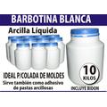 Barbotina Blanca P/ Colada En Molde Arcilla Liquida10 Kilos