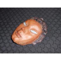 Escultura Cerámica Firmada A.m.f. Mascara