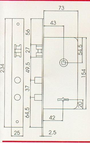 Cerradura Van2000 Modelo 617 (vandos) Siper#
