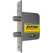 Cerradura Frente Hierro Niquelado Para Consorcio Acytra