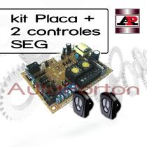 Placa Seg + 2 Controles Para Portón Automatico
