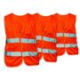 Chaleco Reglamentario De Tela Color Naranja Fluorescente Con