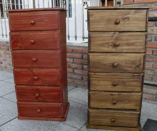 Chifonier cajonera comoda madera pino macizo dormitorio - Cajonera de pino ...