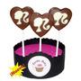 10 Chupetines De Chocolate Corazon Barbie Souvenir Cumples!!