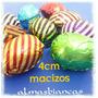 50 Huevo Pascua 4 Cm N4 Macizo Con/sin Mani Papel Metalizado