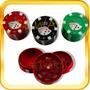 Grinder Picador De Tabaco Metalico Con Reserva Filtro Poker