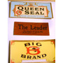 Lote 3 Antiguas Etiquetas Cigarros Habanos Usa Queen Seal