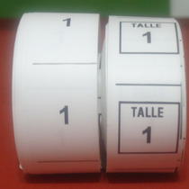 Etiquetas De Talles Para Ropa Estampada - Directo De Fabrica