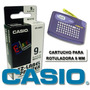 Cartucho Para Rotuladora Casio Xr-9we-9 Mm Negro Blanco