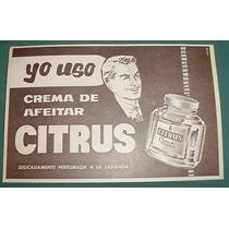 Publicidad Crema De Feitar Citrus Frasco Caballero Barberia