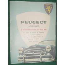 Folleto Publicidad Doble Peugeot Automovil Peugeot 403