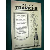 Clipping Publicidad Antigua Jugo De Uvas Trapiche Benegas