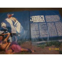 Clipping Jorge Porcel 4 Pag Siete Dias 1982