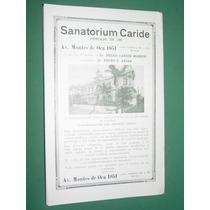Publicidad Sanatorium Caride Hermanas De La Caridad Massini