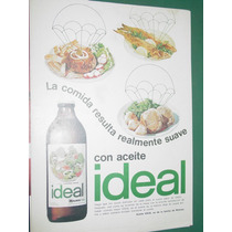 Publicidad Aceite Ideal Botella Comidas Realmente Suave
