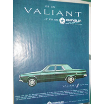 Publicidad Automoviles Valiant Chrysler Fevre Y Basset