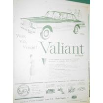 Publicidad Automoviles Valiant Chrysler Vino Vio Vencio