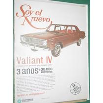 Publicidad Automoviles Valiant 4 Chrysler Argentina El Nuevo