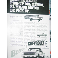 Publicidad Camionetas Chevrolet Brava 1972 Mejor Del Mundo