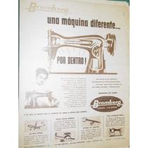Publicidad Maquinas De Coser Bromberg Argentina Modelo 3