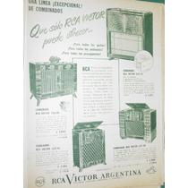 Publicidad Tocadiscos Combinados Rca Victor Argentina Mod3