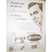 Publicidad Maquinas De Coser Bromberg Argentina Modelo 1