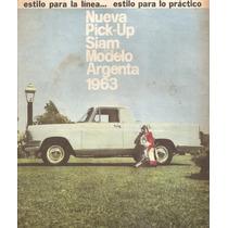 Publicidad Pick-up Siam Modelo Argenta 1963 (005)