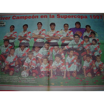 Poster River Plate Campeon Super Copa 1997 Papel 30 X 60 Cm