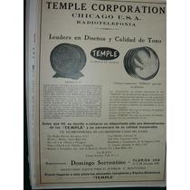 Clipping Antiguo Publicidad Radio Radios Parlantes Temple