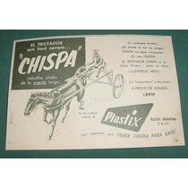 Publicidad Antigua Juguete Sulky Trotador Chispa Plastix