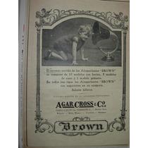 Clipping Antiguo Publicidad Radio Radios Parlantes Brown