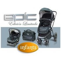 Cochecito Infanti Gb01 Epic Con Moises, Bolso, Base, Huevito