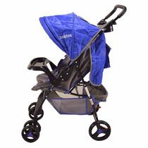 Cochecito Bebé 3 Posiciones Cruse Linea Safari Bebitos Azul